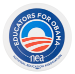 Educators for Obama Political Button Museum