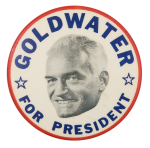 Goldwater for President Stars Political Button Museum