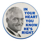 Goldwater You Know He's Right Political Button Museum