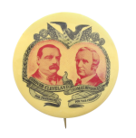 Grover Cleveland and Thomas Hendricks Political Button Museum