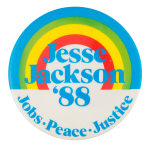 Jesse Jackson Rainbow '88 Political Button Museum