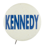 Kennedy White and Blue Political Button Museum