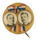 McKinley Roosevelt Campaign Political Button Museum