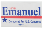 Rahm Emanuel For Congress Political Button Museum