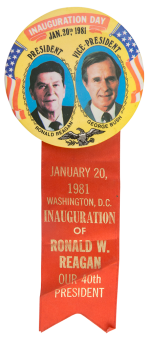 Reagan Bush Inauguration Political Button Museum