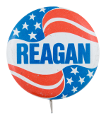 Reagan Flag Political Button Museum