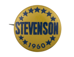 Stevenson 1960 Political Button Museum