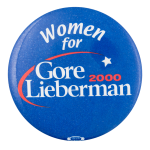 Women for Gore Lieberman Political Button Museum