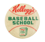 Kellogg's Baseball School School Button Museum