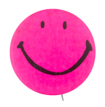 Hot Pink Smiley Smileys Button Museum