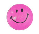 Dark Pink Smiley Face Smileys Button Museum