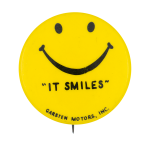 Garston Motors Smiley Smileys Button Museum