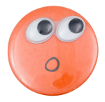 Googley Eyes Face Art Button Museum