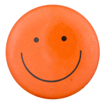 Orange Smiley 3 Smileys Button Museum