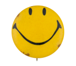 Yellow Smiley 3 Smileys Button Museum