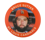 Bruce Sutter St. Louis Cardinals Sports Button Museum