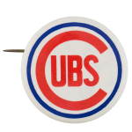 Cubs White Chicago Button Museum