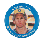 Don Sutton Milwaukee Brewers Sports Button Museum