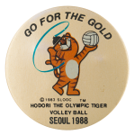 Hodori the Olympic Tiger Events Button Museum