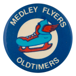 Medley Flyers Oldtimers Sports Button Museum