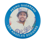 Pedro Guerrero Los Angeles Dodgers Sports Button Museum