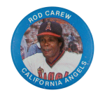 Rod Carew California Angels Sports Button Museum