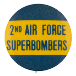 2nd Air Force Superbombers Sports Button Museum