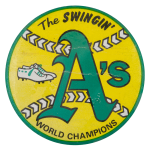 The Swingin' A's Sports Button Museum