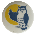 Blue Owl Art Button Museum