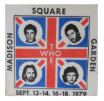 The Who Madison Square Garden Button Museum