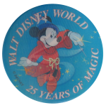 Walt Disney World 25 Years Of Magic Events Button Museum